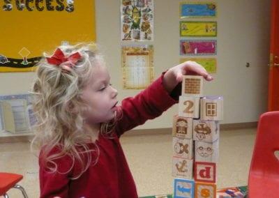 Allie with blocks